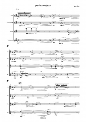 first page of score